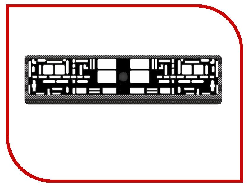Аксессуар AVS RN-04 Dark Carbon A78106S - рамка под номерной знак<br>