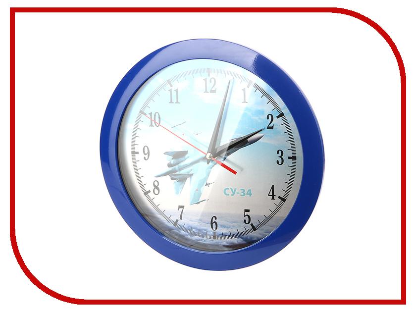 Часы настенные Восток-Дизайн Самолет СУ-34<br>