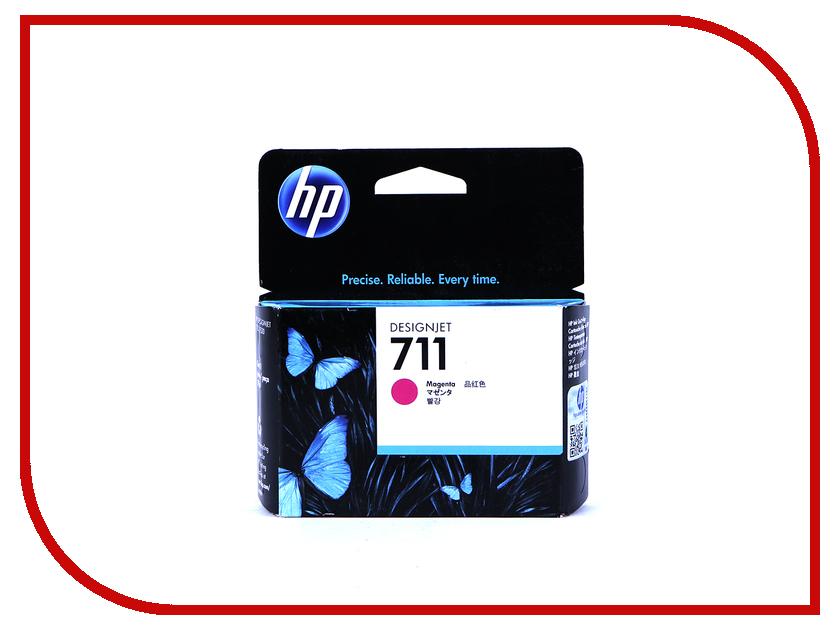 Картридж HP 711 CZ131A Magenta hewlett packard hp h3100 гарнитура с пшеницей проводной игровой гарнитуры белый офис