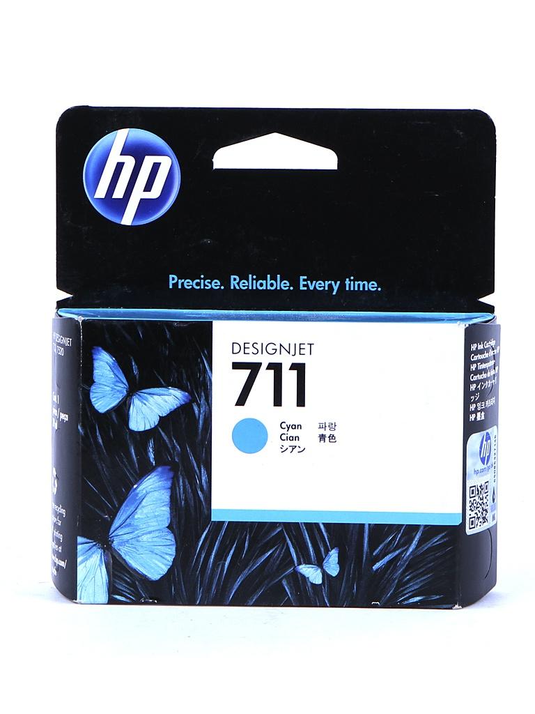 Картридж HP 711 CZ130A Cyan картридж hp 711 с голубыми чернилами 29мл cz130a