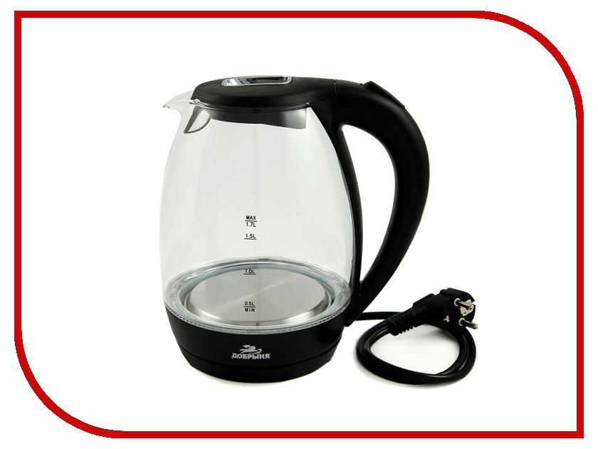 Чайник Добрыня DO-1220 Black цена и фото