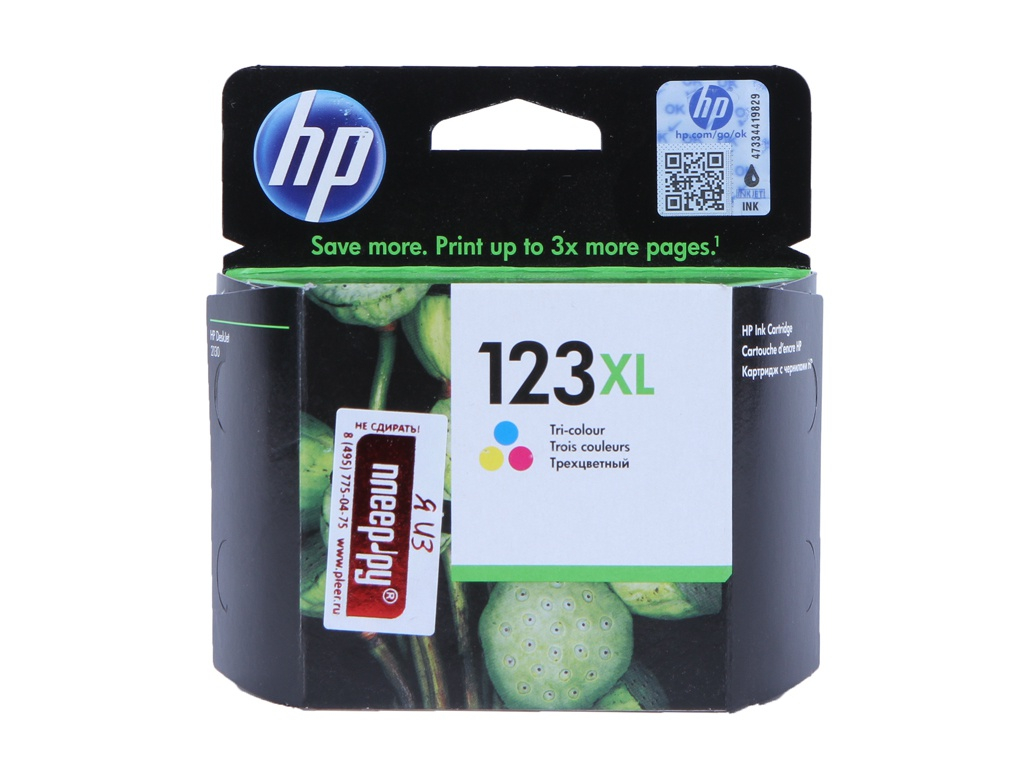 Картридж HP 123XL F6V18AE Tri-Colour