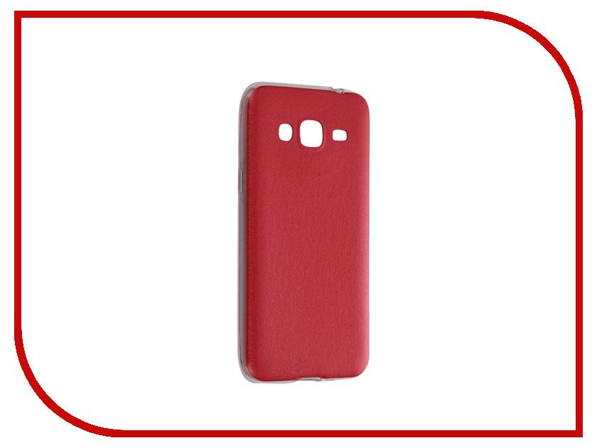 Аксессуар Чехол Samsung Galaxy J3 2016 SM-J320 Activ HiCase Silicone Red 58338<br>