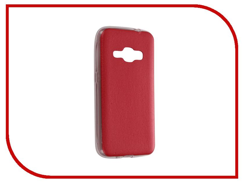 Аксессуар Чехол Samsung Galaxy J1 2016 SM-J120 Activ HiCase Silicone Red 58328<br>