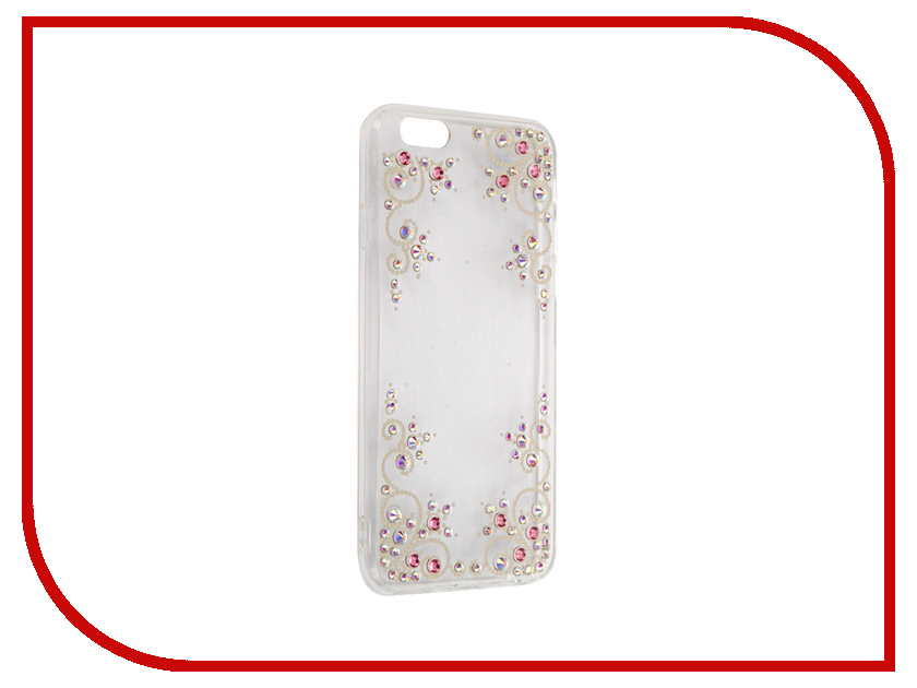 Аксессуар Чехол Activ Silicone New Case со стразами для APPLE iPhone 6 60410<br>