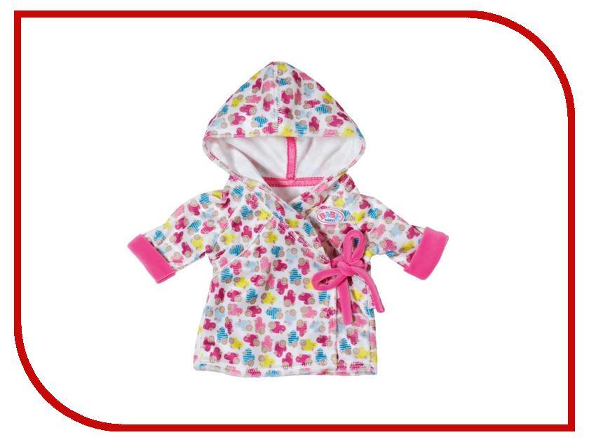 Одежда для куклы Zapf Creation Baby Born Халат с капюшоном 822-463 одежда для кукол zapf creation baby born халат с капюшоном веш
