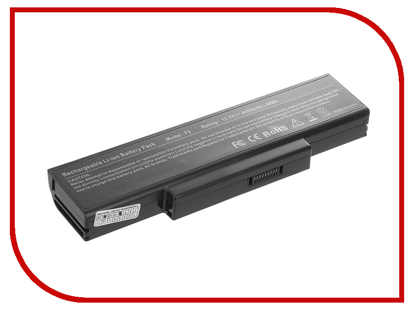 Аккумулятор Tempo F3 11.1V 4400mAh для ASUS M51/F2/F3/F7/A9/Z53/X56/K73/N72 Series<br>
