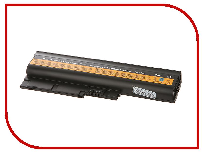 Аккумулятор Tempo T60 10.8V 4400mAh для IBM ThinkPad T60p/T61p/Z60m/Z61e/Z61m/Z61p/R60e/R61e/R61s/T500/R500/W500/SL300/SL500 Series