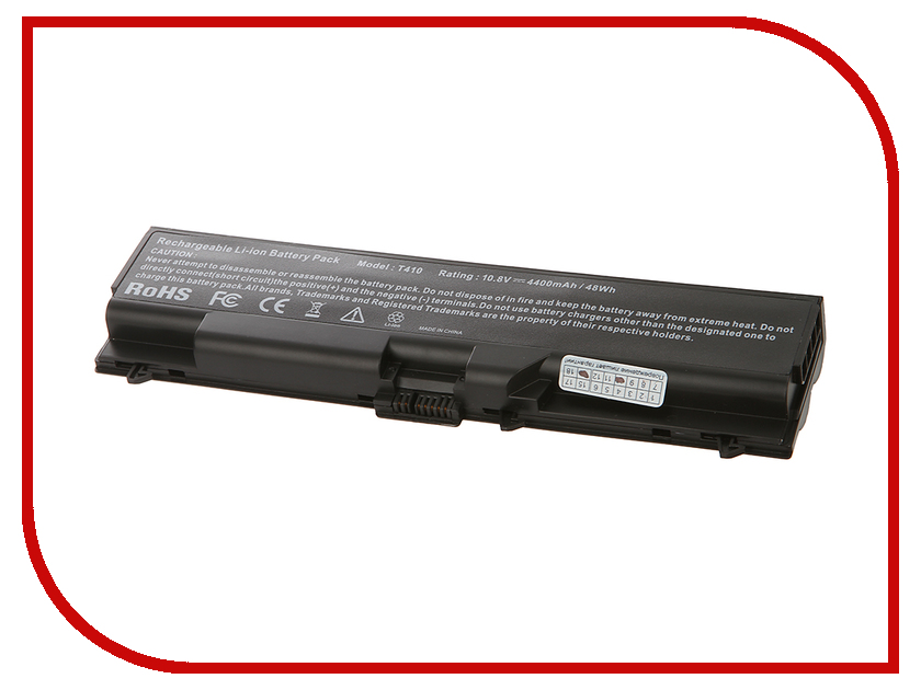 Аккумулятор Tempo T510 11.1V 4400mAh для IBM Lenovo ThinkPad SL410/SL510/SL520/T410-i5/T410-i7/T420/T510/T520/W510/W520/E40/E50/Edge/E420/E425/E520/E525 Series jigu original laptop battery for lenovo for thinkpad sl400 sl410 sl410k sl500 sl510 t410 t410i t420 t420i t520 w510 w520