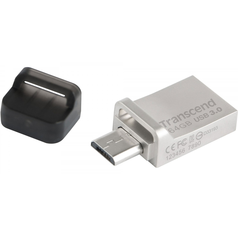 USB Flash Drive 64Gb - Transcend JetFlash 880 Silver TS64GJF880S