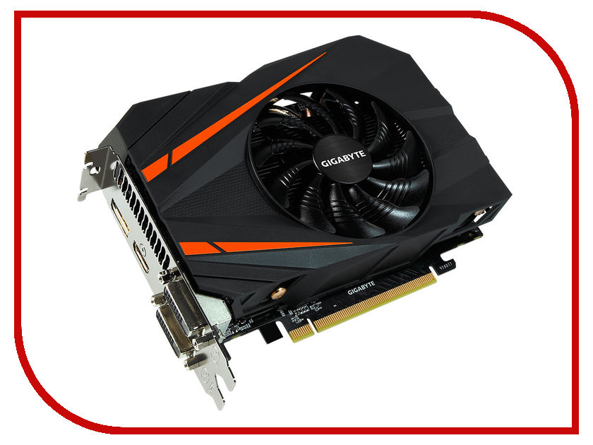 Видеокарта GigaByte GeForce GTX 1060 1556Mhz PCI-E 3.0 6144Mb 8008Mhz 192 bit 2xDVI HDMI HDCP GV-N1060IXOC-6GD видеокарта пк gigabyte geforce gtx 1060 1582mhz pci e 3 0 3072mb 8008mhz 192 bit 2xdvi hdmi hdcp gv n1060wf2oc 3gd