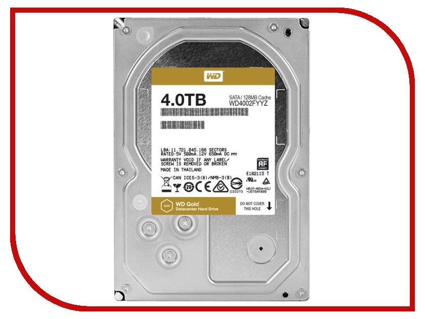 Жесткий диск 4Tb - Western Digital Gold WD4002FYYZ western digital hdd 4tb