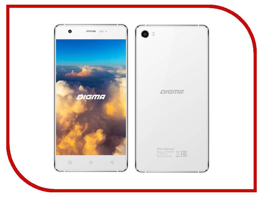 Сотовый телефон Digma VOX S503 4G White-Silver<br>