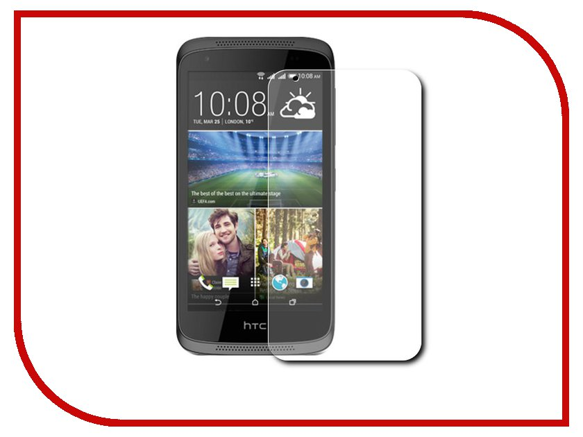 Аксессуар Защитное стекло HTC Desire 526G Dual Sim Zibelino TG 0.33mm 2.5D ZTG-HTC-526G аксессуар защитная пленка luxcase for htc desire 626 626g dual sim 626g dual sim 628 антибликовая 53113