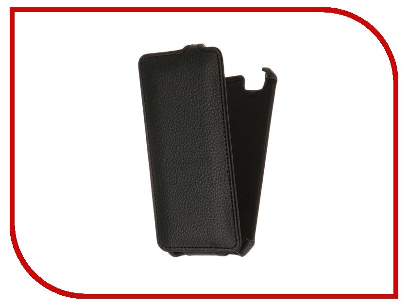 Аксессуар Чехол ZTE Blade A610 Gecko Black GG-F-ZTEA610-BL<br>