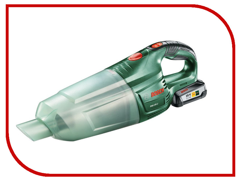 Пылесос Bosch PAS 18 LI Set 06033B9002 пылесосы bosch пылесос bosch bsgl32180 2100вт красный