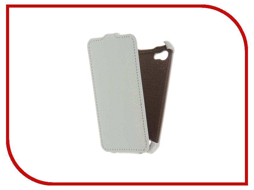 Аксессуар Чехол для Fly FS405 Stratus 4 Gecko White GG-F-FLYFS405-WH чехол защитный skinbox lg x cam