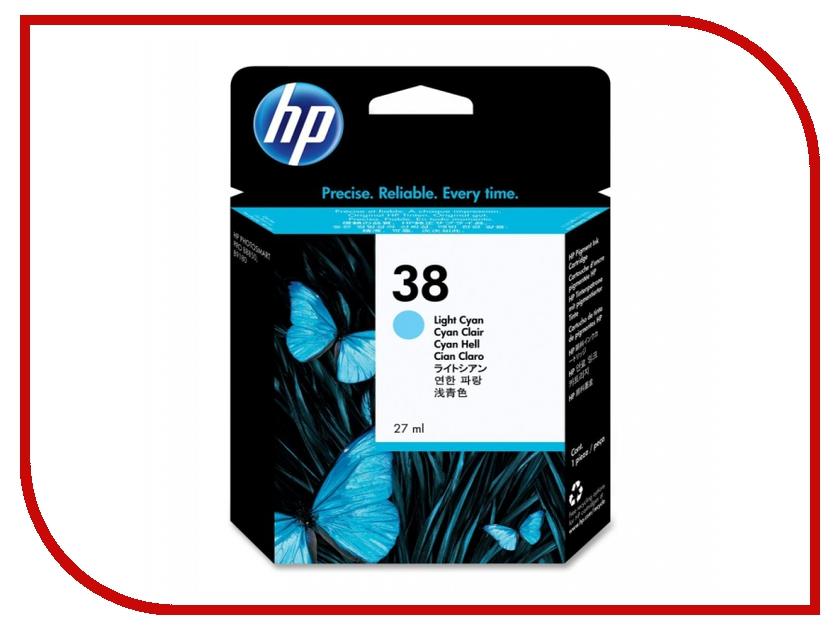 Картридж HP 38 C9418A Light Cyan hewlett packard hp лазерный мфу печать копирование сканирование