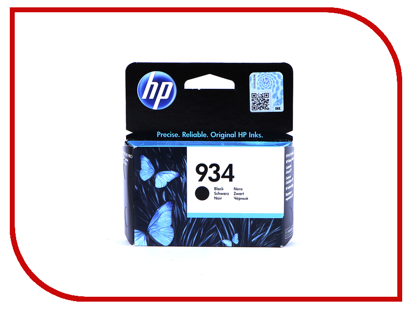 Картридж HP 934 C2P19AE Black картридж hp 934 черный [c2p19ae]
