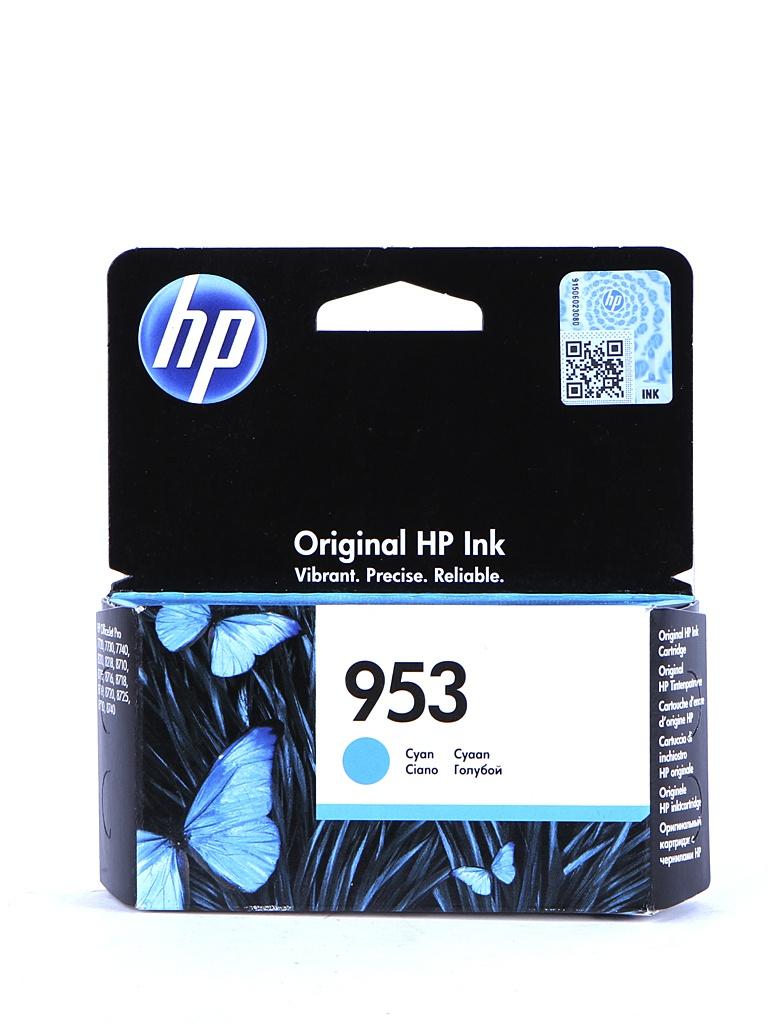 Картридж HP 953 F6U12AE Cyan картридж струйный hp c9391ae n 88xl cyan with vivera ink
