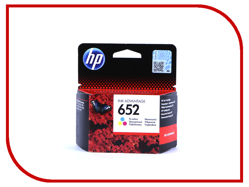Картридж HP 652 F6V24AE Tri-colour для Deskjet Ink Advantage 1115/2135/3635/3835/4535/4675 1pcs ink cartridge for hp 95 tri color for hp deskjet 6450 6540dt 6540xi c8766w colour inkjet cartridge