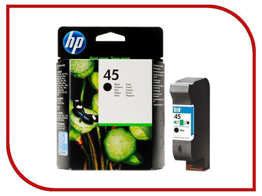 Картридж HP 45 51645AE Black для DJ 850C hewlett packard hp многофункциональная аппаратура для печати копии факса сканирования