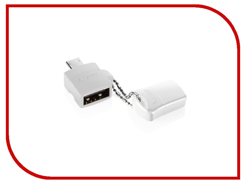 USB Flash Drive 16Gb - Apacer AH116 + OTG A610 White AP16GA610PW-1<br>