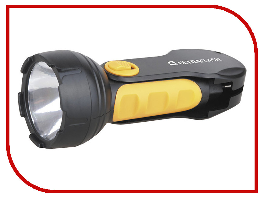Фонарь UltraFlash LED3817 Black-Yellow 10795