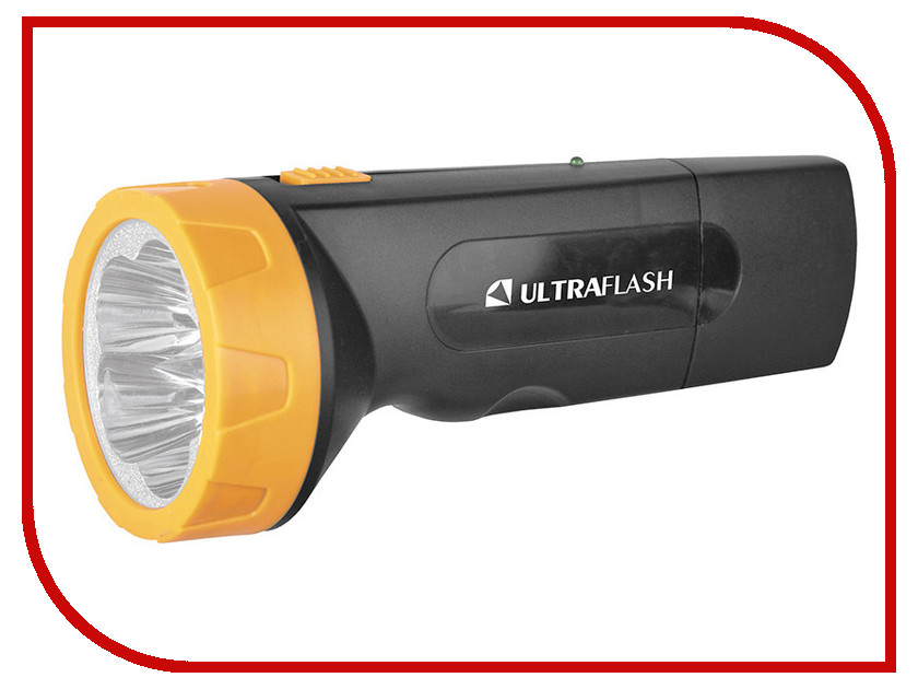 Фонарь UltraFlash LED3827 Black-Yellow 11241