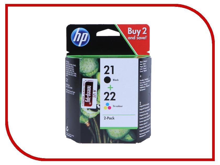 Картридж HP 21/22 SD367AE Black/Tri-color hp 121 black tri color cn637he