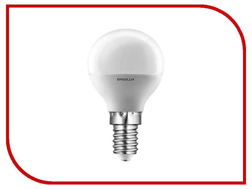 Лампочка Ergolux Шар LED-G45-5W-E14-3K 12138<br>