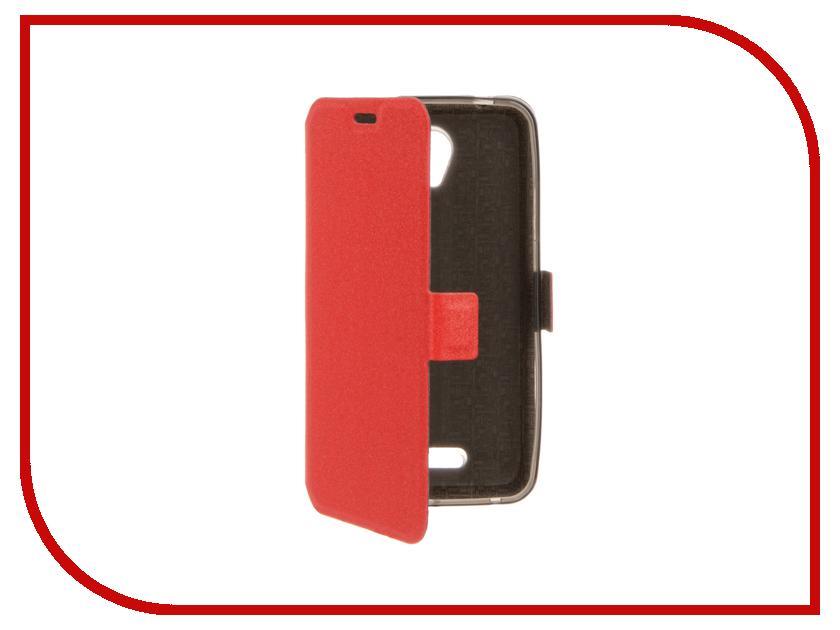 Аксессуар Чехол Lenovo A1010/A2016 SkinBox Prime Book Red T-P-LA1010-05 чехлы для телефонов prime lenovo a1000 prime book