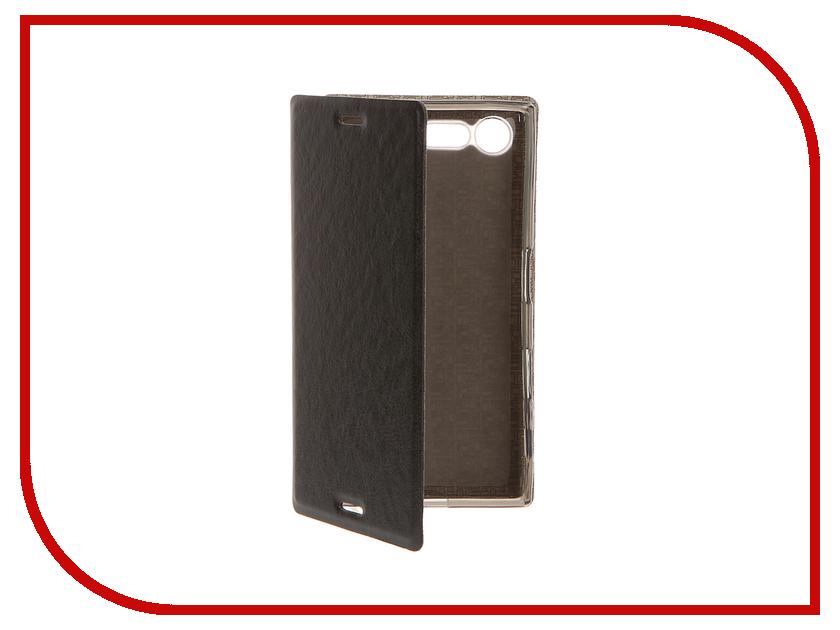 Аксессуар Чехол Sony Xperia X Compact SkinBox Lux Black T-S-SXXC-004<br>