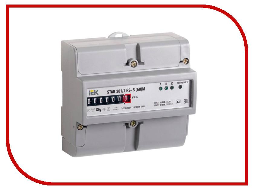 Счетчик электроэнергии IEK STAR 301/1 R2-5(60)М CCE-3R1-1-01-1 соединительная шина 1п типа pin iek yns21 1 063