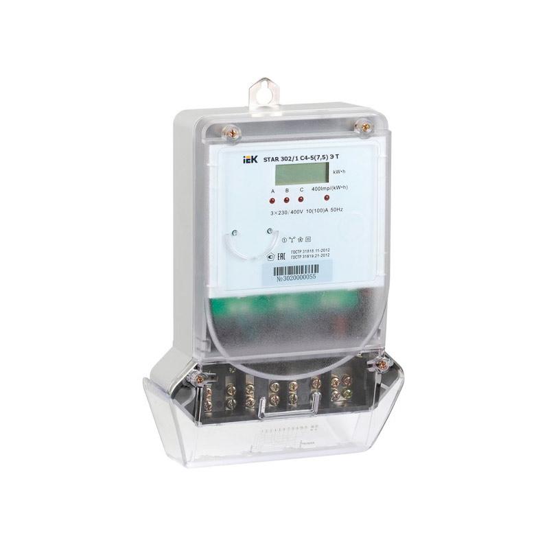 Счетчик электроэнергии IEK STAR 302/1 С4-5(7.5)Э Т CCE-3C1-3-02-3