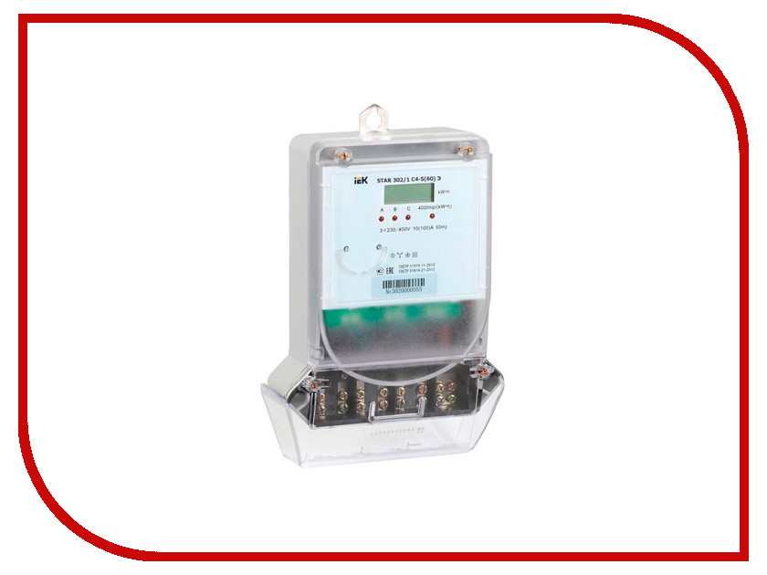Счетчик электроэнергии IEK STAR 302/1 С4-5(60)Э CCE-3C1-1-02-1<br>