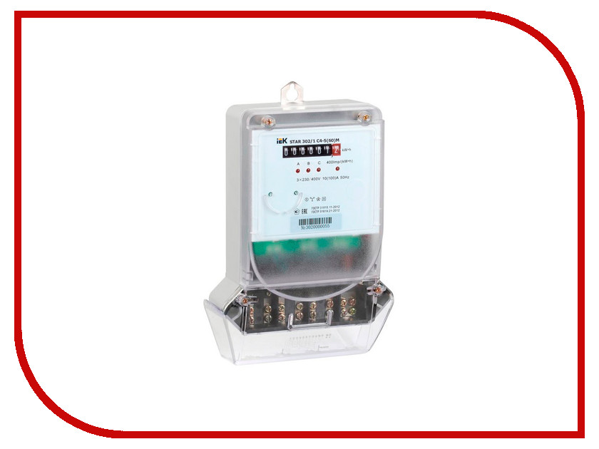 Счетчик электроэнергии IEK STAR 302/1 С4-5(60)М CCE-3C1-1-01-1