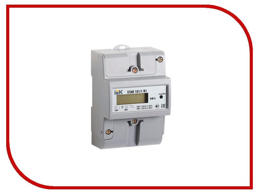 Счетчик электроэнергии IEK STAR 101/1 R1-5(60)Э Ш2 CCE-1R1-1-02-2 соединительная шина 1п типа pin iek yns21 1 063