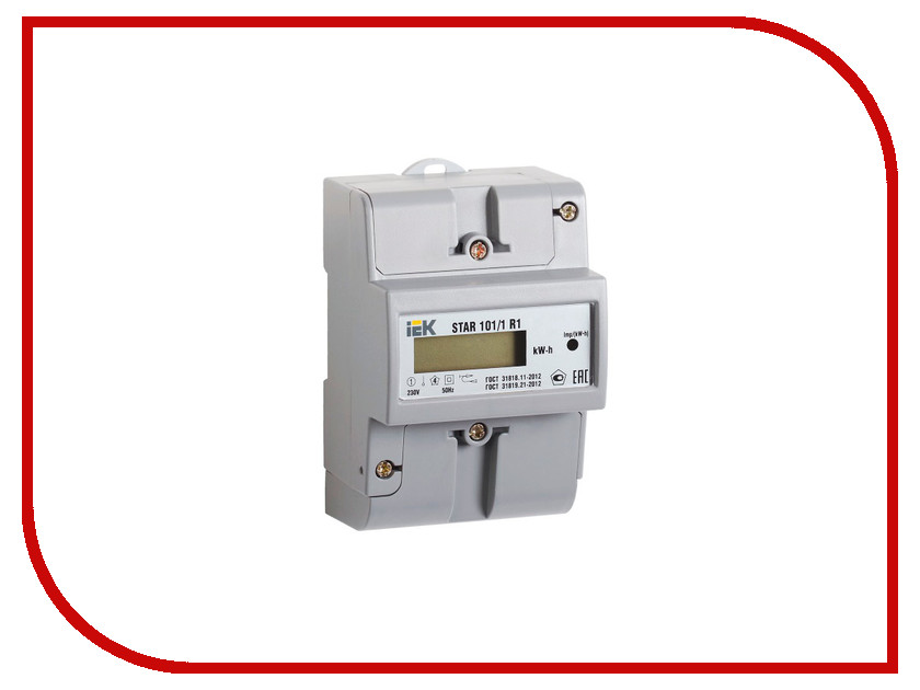 Счетчик электроэнергии IEK STAR 101/1 R1-5(60)Э CCE-1R1-1-02-1 соединительная шина 1п типа pin iek yns21 1 063