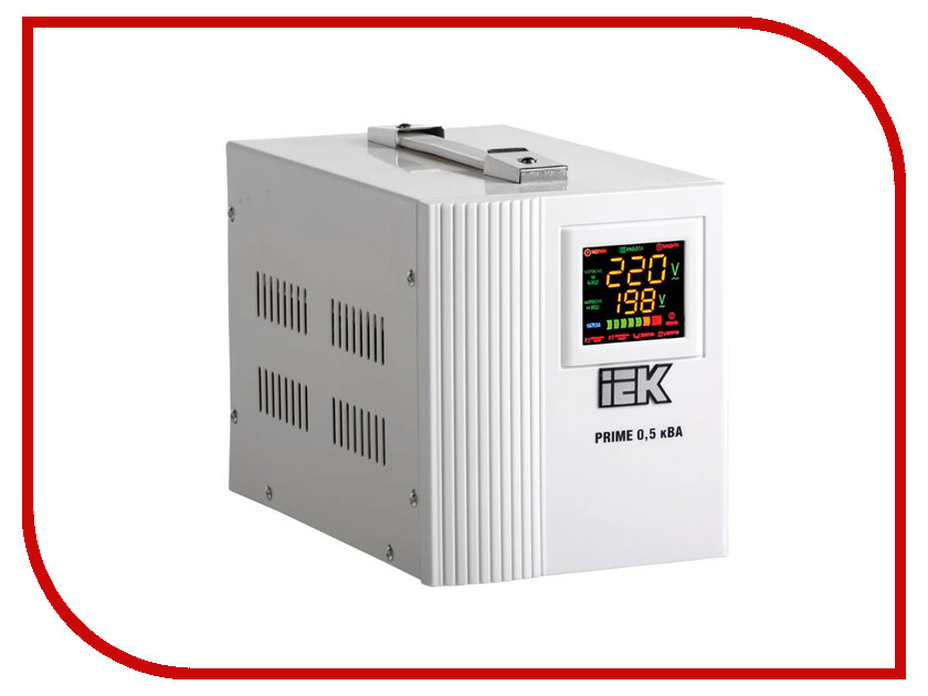 Стабилизатор IEK Prime 0.5кВА IVS31-1-00500 лампа светодиодная iek 422017