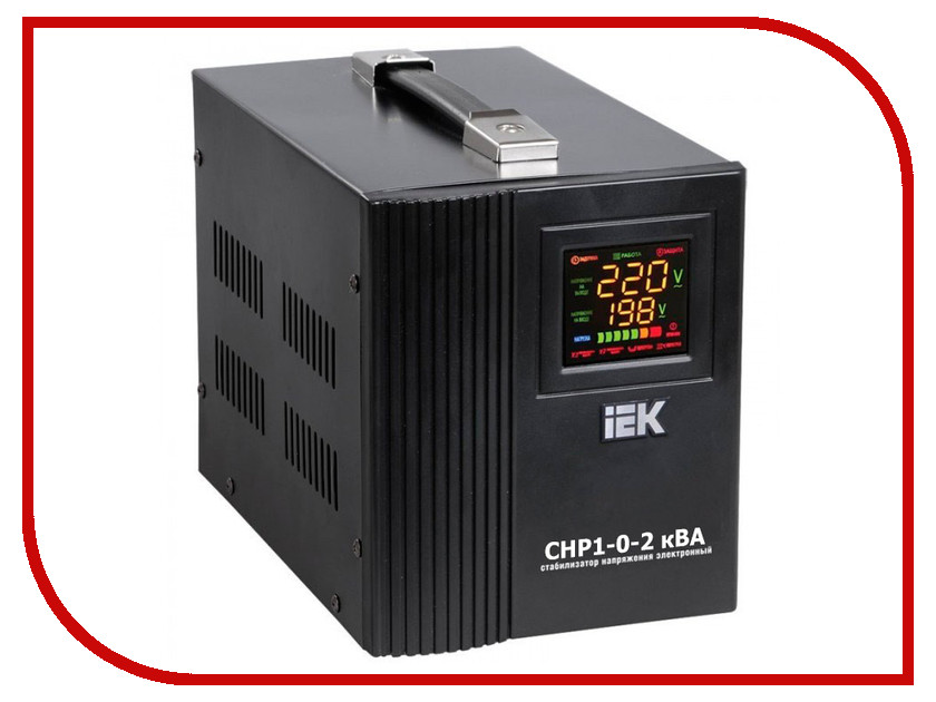 Стабилизатор IEK СНР 1/220 2кВА IVS20-1-02000 соединительная шина 1п типа pin iek yns21 1 063
