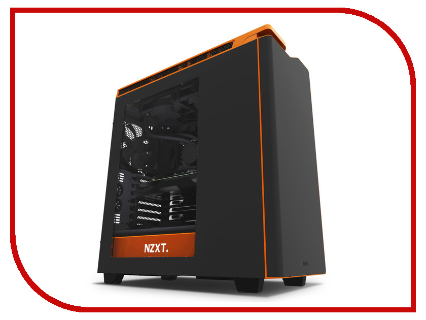 Корпус NZXT H440 Black-Orange CA-H442W-MO корпус nzxt h440 razer