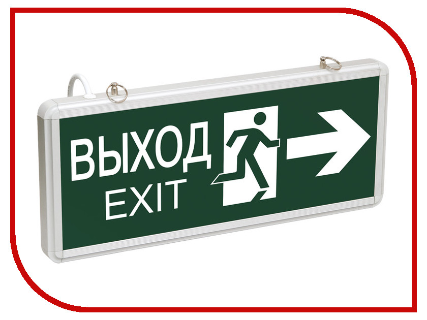 Светильник IEK CCA 1003 ВЫХОД-EXIT LSSA0-1003-003-K03