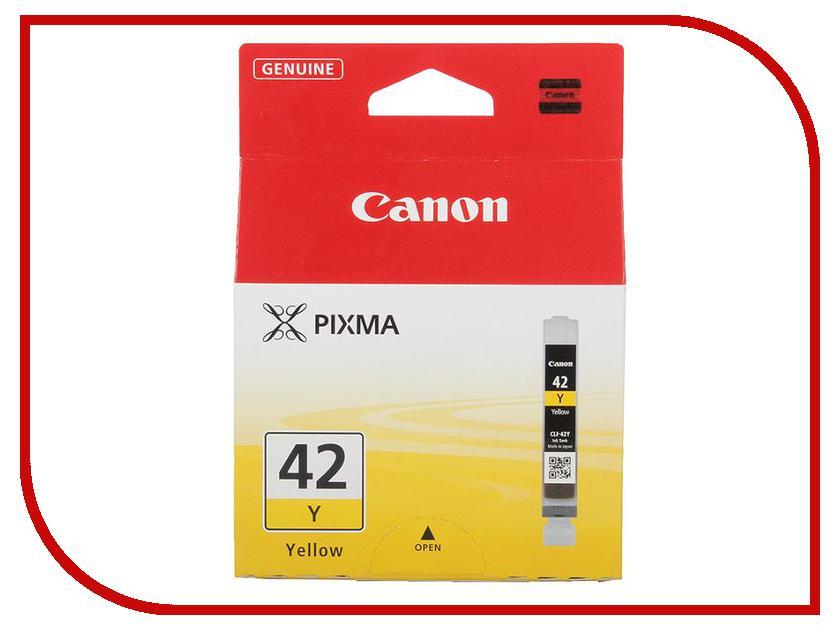 Картридж Canon CLI-42Y Yellow 6387B001 картридж для принтера colouring cg cli 426c cyan