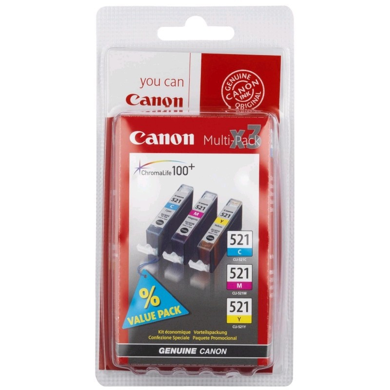 Картридж Canon CLI-521 C/M/Y Multipack 2934B010 картридж cactus cli 426c m y cs cli426c m y
