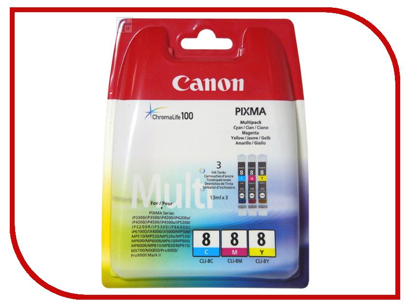 Картридж Canon CLI-8 C/M/Y MultiPack 0621B029 картридж для струйного принтера canon cli 471 multipack c m y bk