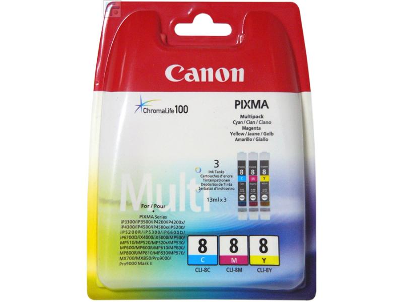 Картридж Canon CLI-8 C/M/Y MultiPack 0621B029