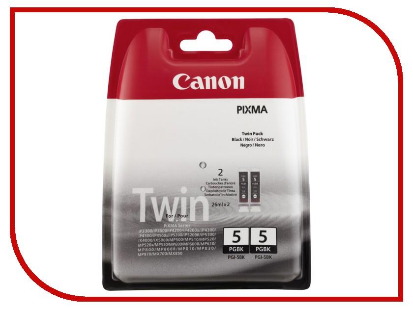 Картридж Canon PGI-5 PGBK TwinPack Black 0628B030<br>