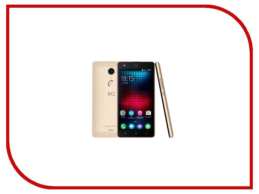 Сотовый телефон BQ BQS-5050 Strike Selfie Gold<br>