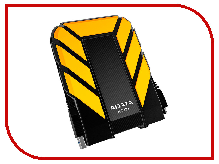 Жесткий диск A-Data HD710 2Tb Yellow AHD710-2TU3-CYL